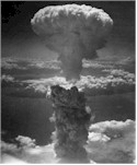 Mushroom cloud over Nagasaki three days after Hiroshima