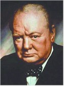 British prime minister Winston Churchill, sacked after the victory he engineered