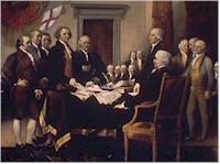 The Declaration of Independence is presented to the Congress for signing