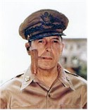 General Douglas Macarthur was ordered off Bataan in March by the president.  'I shall return!'