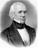 President James Polk, who triggered the '49 Gold Rush by confirming the discovery reports.
