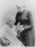Suffragists Elizabeth Cady Stanton and Susan B. Anthony