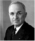 President Harry S Truman, whose signature placed the Speaker of the House third in line after the VP