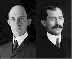 Wilbur (left) and Orville Wright
